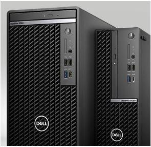 DELL N009O5080SFF Opti 5080 SFF, Core i5-10500, 8GB, 256GB SSD, Integrated, Win 10 Pro