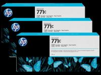 HP B6Y37A No 771 775ml 3′lü Paket Photo Siyah Kartuş