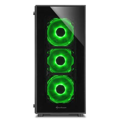 SHARKOON TG5-GREEN Belirgin Şık ve Kaliteli Midi Tower Kasa